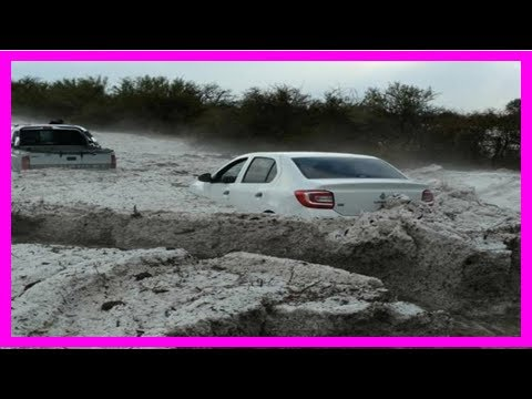 Breaking News | Incredible photos show terrifying hail storm in argentina