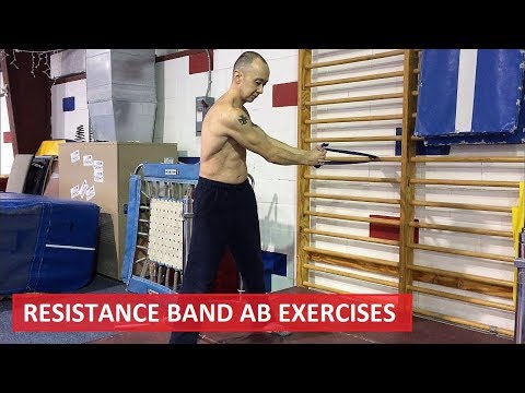 RESISTANCE BAND AB EXERCISES – UPPER/LOWER ABS, SERRATUS AND OBLIQUES WORKOUT ROUTINE 4K