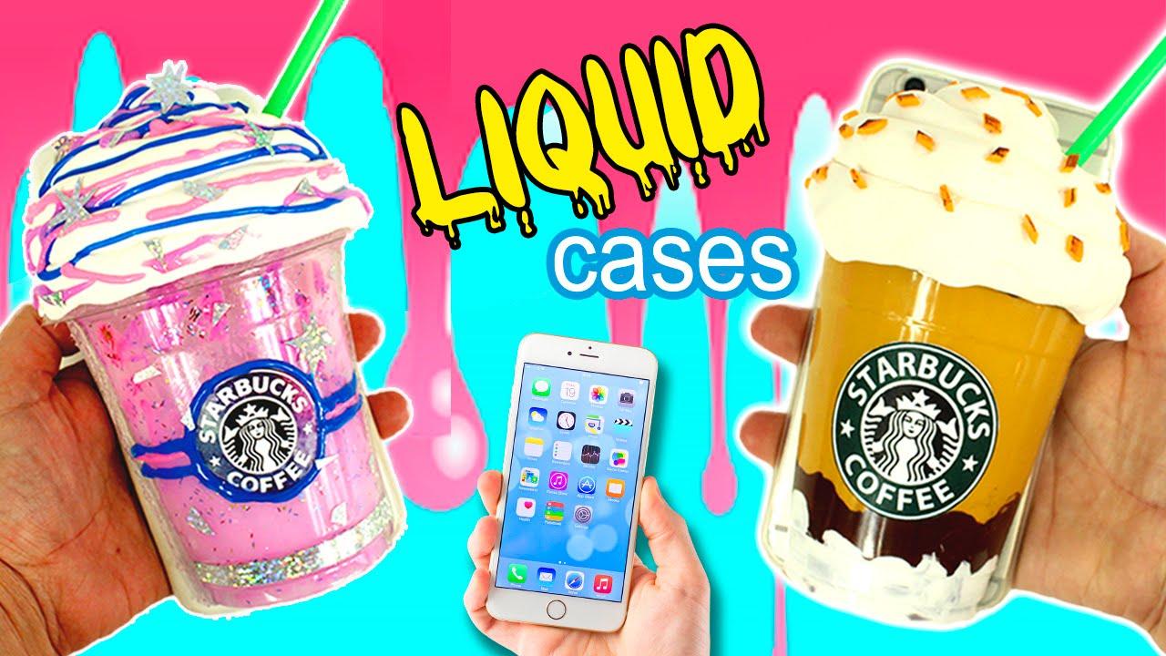 DIY Liquid PHONE CASE  STARBUCKS phone case  YouTube