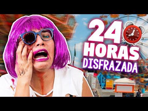 24 HORAS con DISFRAZ DE HALLOWEEN *sin un ojo por un da*  Craftingeek