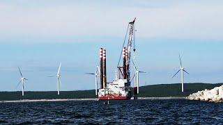 洋上風力発電はクリーンか 国内初の工事現場、海中に響く音を調べた