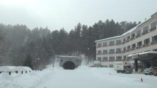 北海道鹿追町 吹雪の道道85号 然別湖〜車載動画 2013/02/03