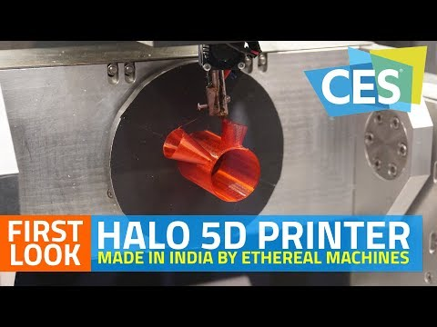 Made in India Halo 5D Printer First Look | CES 2018 Best Innovation Award Winner