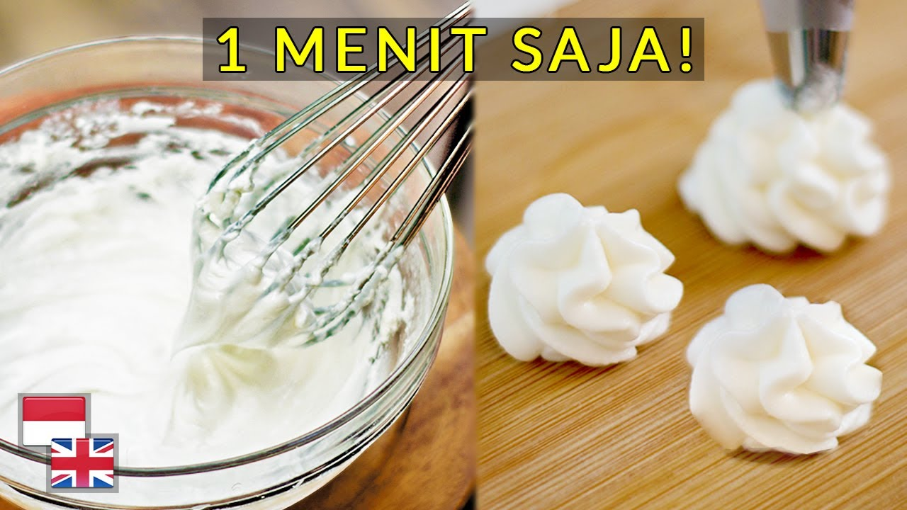 Resep Whip Cream Tanpa Sp Tanpa Mixer 100 Sukses Youtube