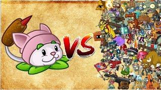 PvZ 2 Rabo de Gato vs Todos los Zombis