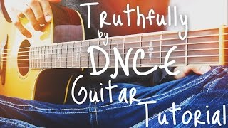 Truthfully by DNCE Guitar Tutorial // Guitar Lessons for Beginners (4K!)