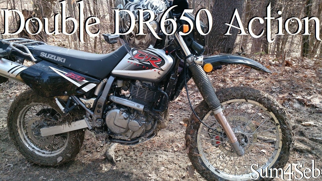 Double DR650 off Road Mud Fun |¦| Sum4Seb Motorcycle Video