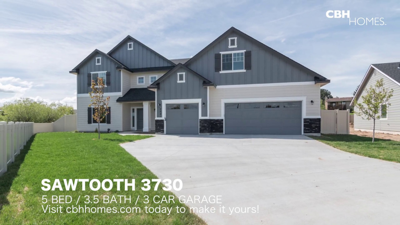 cbh homes sawtooth 3730 5 bed 3 5 bath 3 car garage - Garage Homes