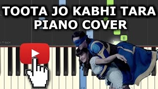 Toota Jo Kabhi Tara Piano Cover|A Flying Jatt|Chords+Tutorial+Lesson+Notes|Atif Aslam|Tiger Shroff