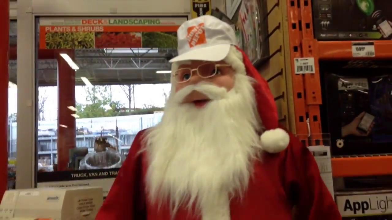 Home Depot 72 In Animated Dancing Santa In Store