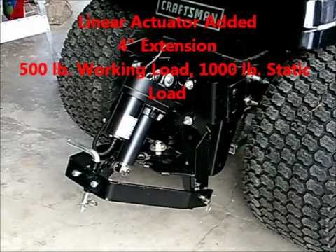 Craftsman CTX9500 Garden Tractor Sleeve Hitch Modification YouTube