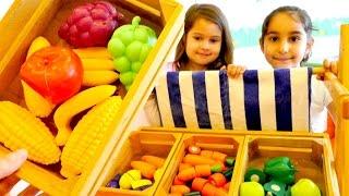 Sebze Manavı Oyunu. İngilizce sebze ve meyve isimleri