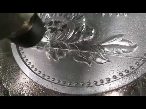 Aluminum engraving by cnc router machine