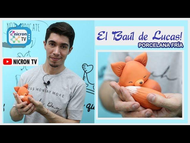 El baúl de Lucas | NICRON TV | Como hacer un zorro en porcelana fria | Paso a Paso gratuito