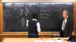 Урок 112. Задачи на закон сохранения момента импульса (ч.2)