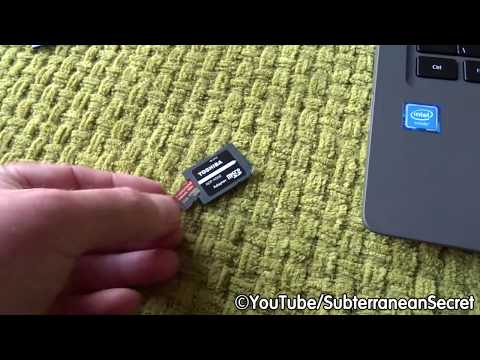 How to Use a MicroSD Card in a Normal SD Card Slot on a Laptop or Tablet
