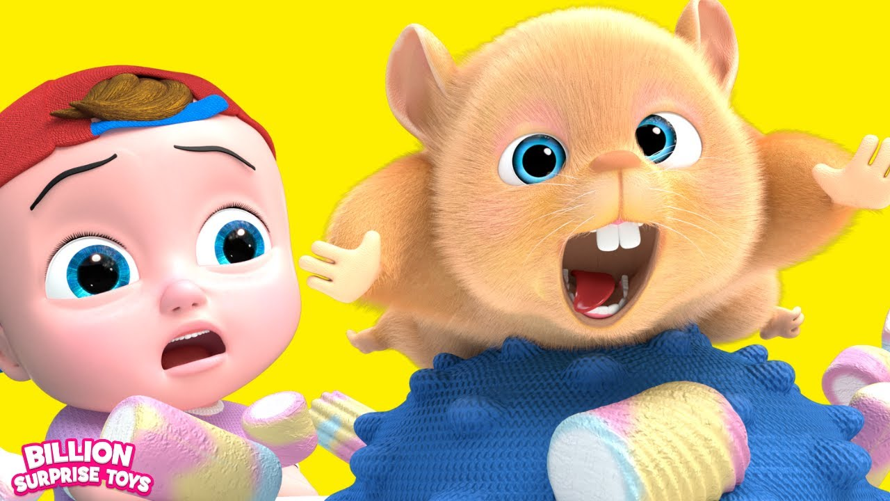 جوني ودولي وشيا متحمسون للقاء حيوانهم الأليف الجديد! أغنية الهامستر للأطفال