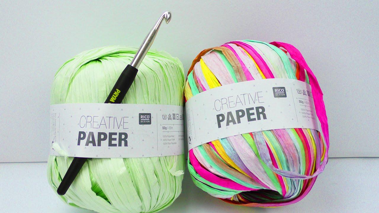 Creative Paper Häkeln Mit Papier Live Test Sommer