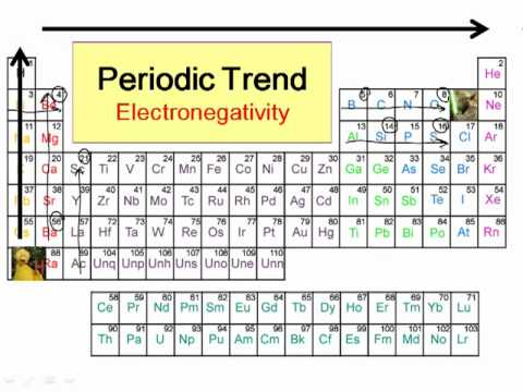 Periodic Trends in Electronegativity - YouTube