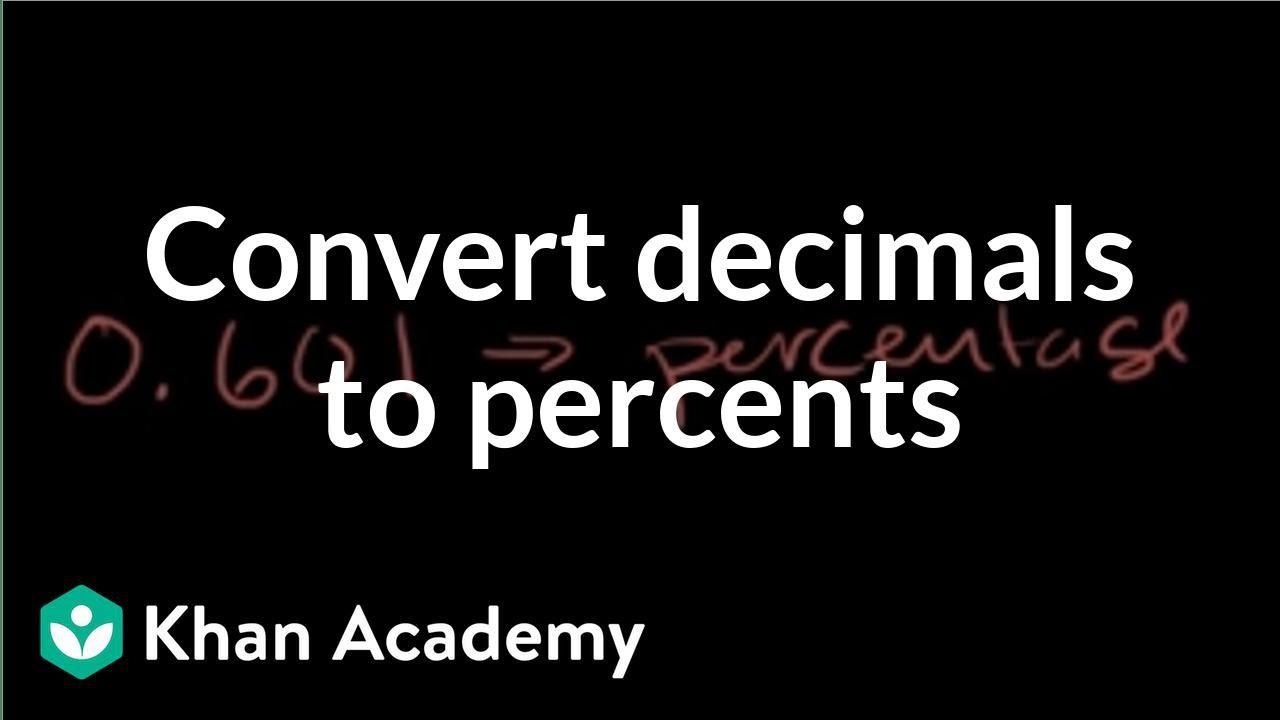 Converting decimals to percents: 0.601 (video)   Khan Academy [ 720 x 1280 Pixel ]