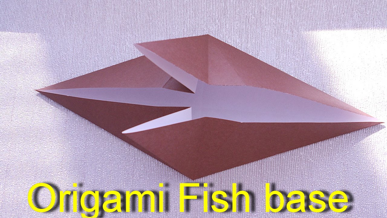 how to make a origami fish base origami for kids youtube