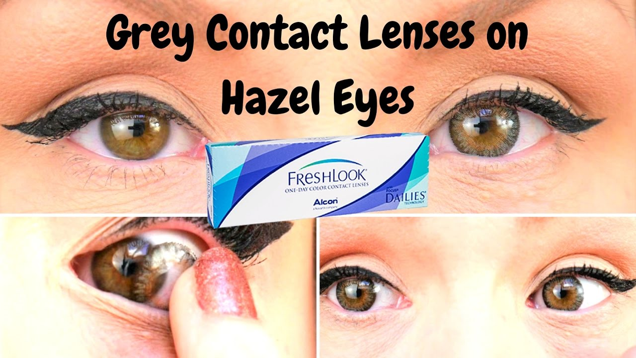 Fresh Look One Day Colour Contact Lenses In Grey On Hazel