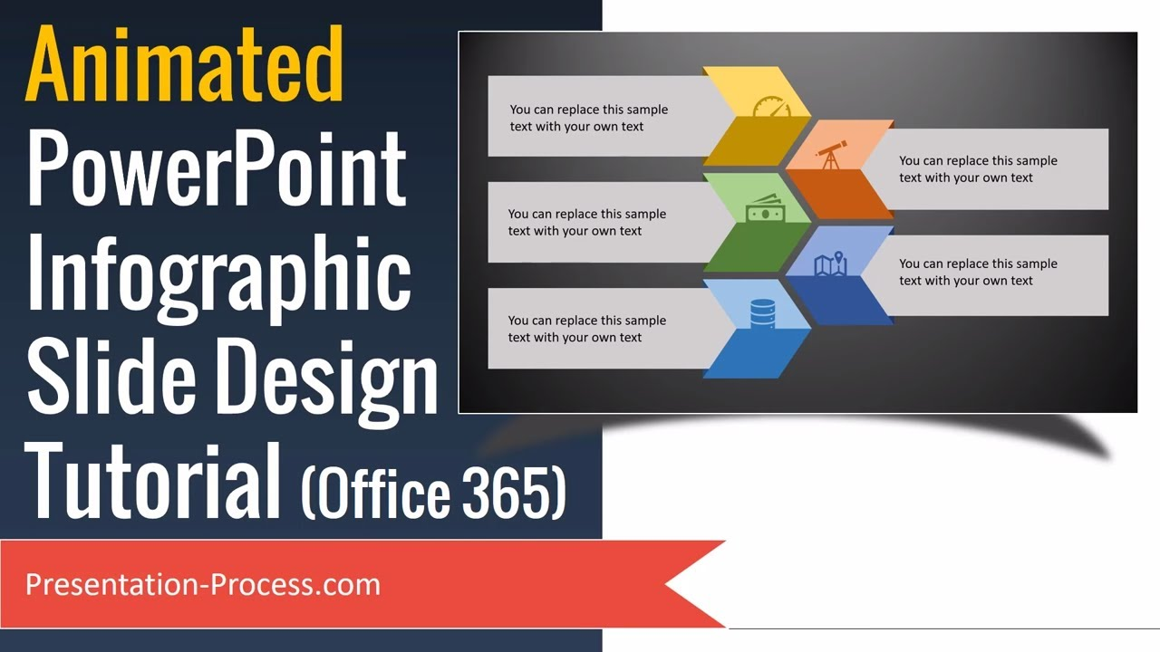 Animated powerpoint infographic slide design tutorial for Office design 365