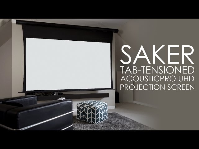 Elite Screens Saker Tab-Tensioned AcousticPro UHD Screen