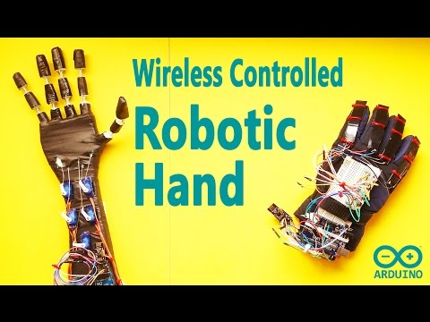 Arduino Project - Make a Low Cost Robotic Hand with Wireless
