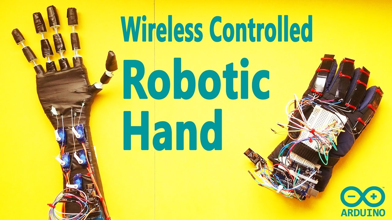 How to Make Arduino Wireless Controlled DIY Robot Hand   Low Cost