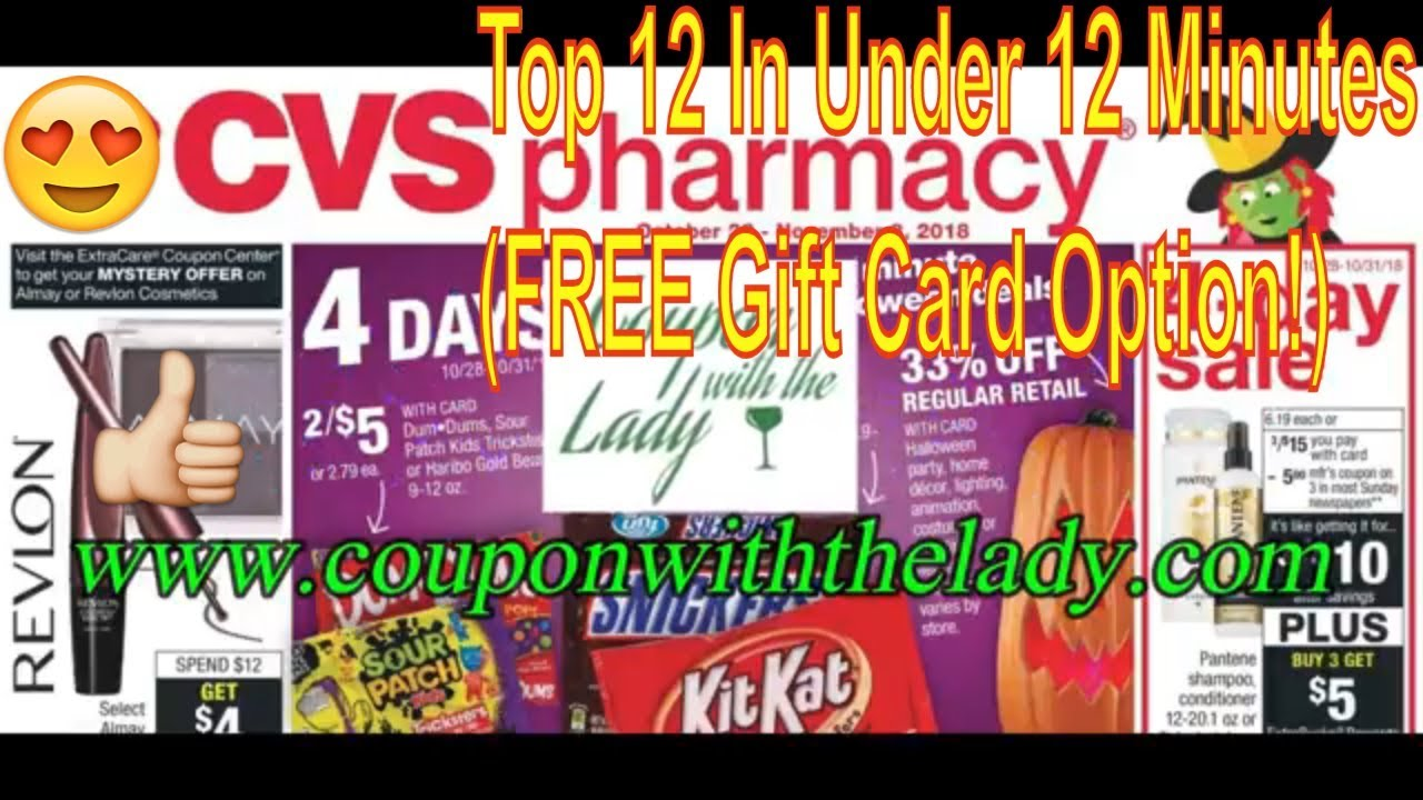 Cvs Coupon Breakdowns 10 28 18 Top 12 In Under 12 Minutes Free