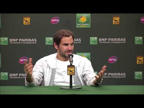 BNP Paribas Open 2018: Roger Federer Runner-Up Press Conference