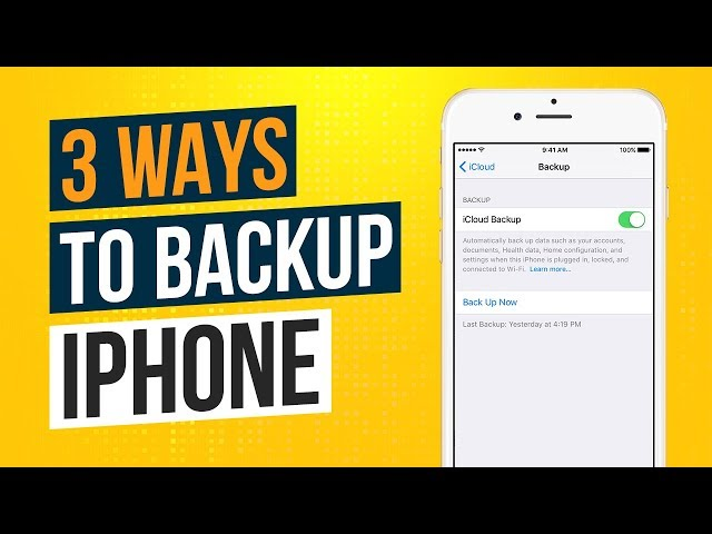 3 Ways to Backup an iPhone or iPad 2018 (Backing Up iPhone) Tech Zaada