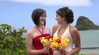 Lindsey Bride + bridemaids  @ kualoa beach park Hawaii wedding