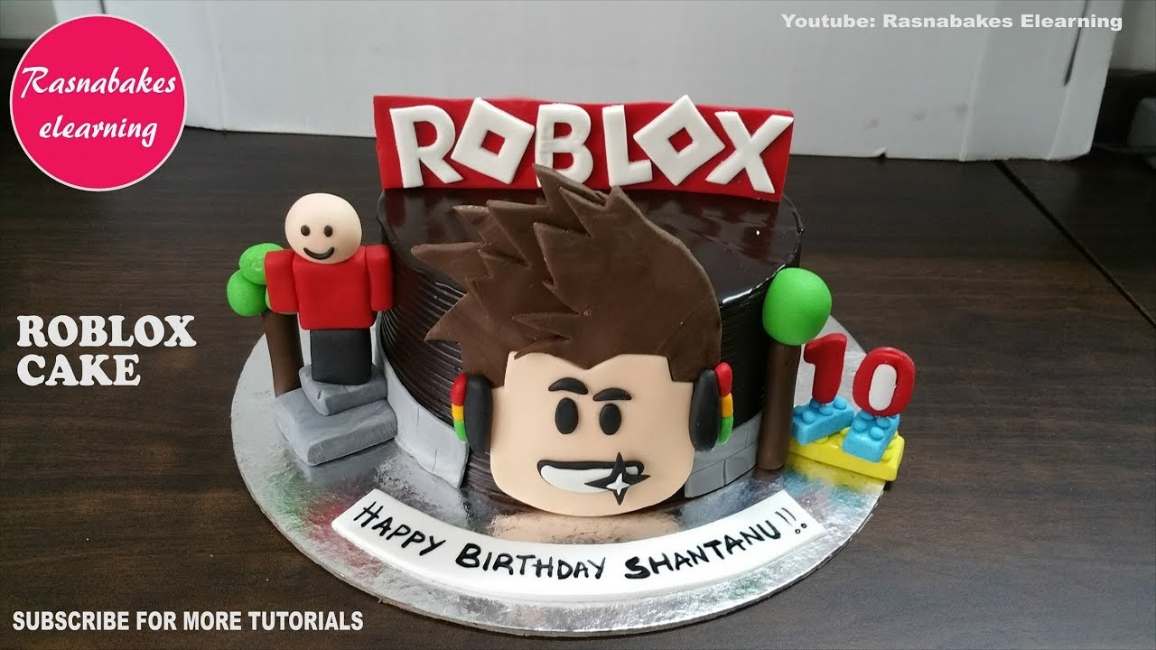 Boy Roblox Cake Images