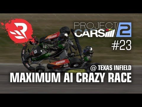 Project CARS 2 - AI 120% CRAZY Race @ Texas Infield Course