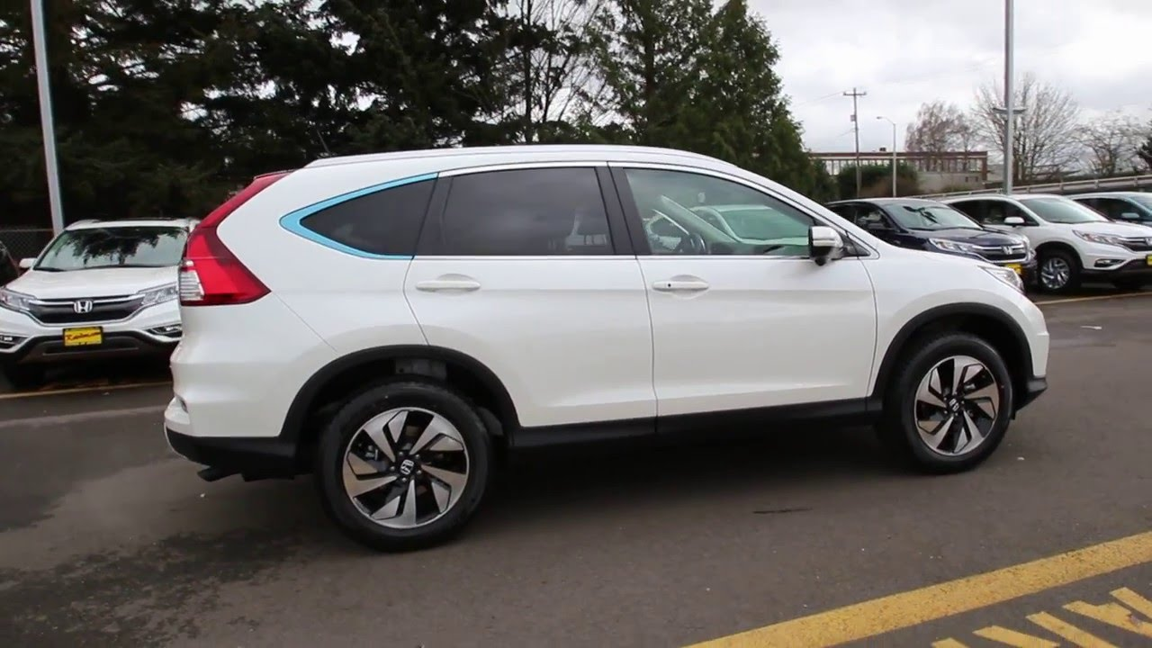 2016 honda cr v touring diamond white gl045850 seattle renton youtube. Black Bedroom Furniture Sets. Home Design Ideas