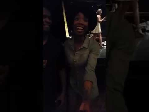 Brandy Sings Happy Birthday To Timothy Lawrance While Working On Chicago On Broadway