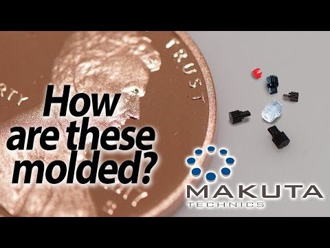 Micron sized plastic injection molding  - Makuta