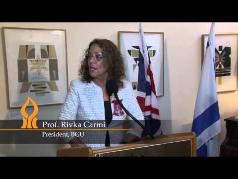 President Prof. Rivka Carmi - Honorary Commander of the Most Excellent Order of the British Empire