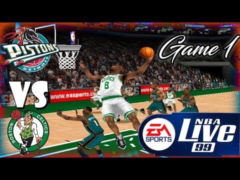 Nba Live 99 Detroit Pistons-Boston Celtics Playoff game 1