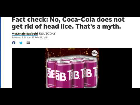 Coca Cola Does Not Eliminate Nits and Head Lice