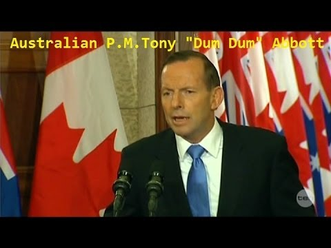 """Friend-less"" Australian P.M. Tony Abbott in Canada FAILS w/ Climate Change Issues"