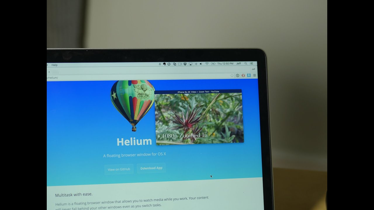 Helium Brings Picture In Picture To Mac Youtube