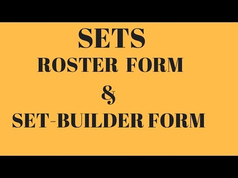 Introduction Of Set Theory In Maths , BasicTerms Related To Set , Roster Form , Set Builder Form