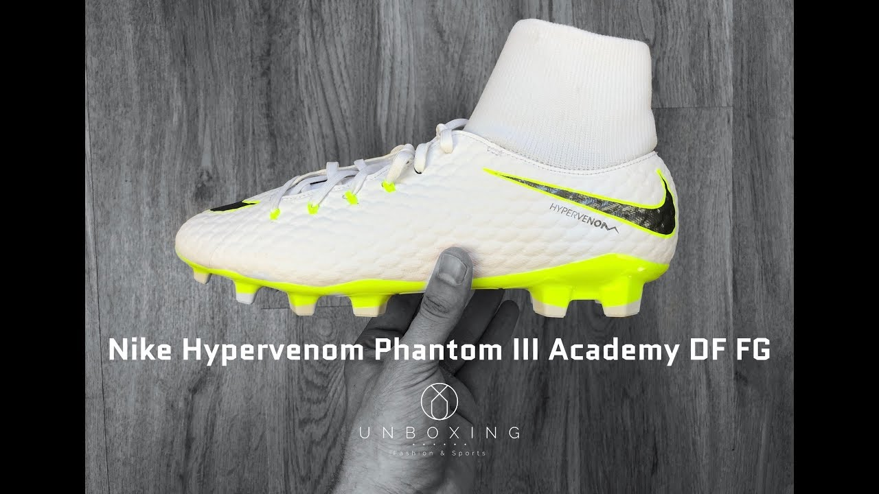 best website 9e9cf ac415 Nike Hypervenom Phantom III Academy DF FG 'Just Do it Pack' | UNBOXING & ON  FEET | football boots