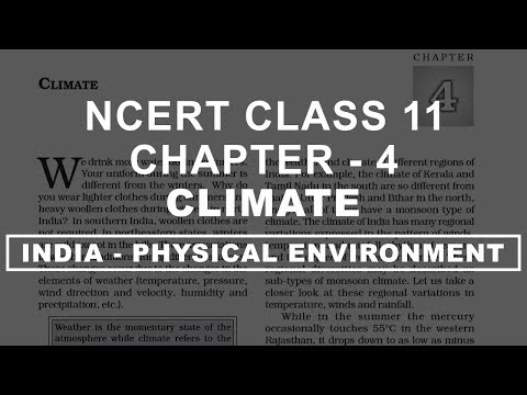 Climate - Chapter 4 Geography NCERT class 11