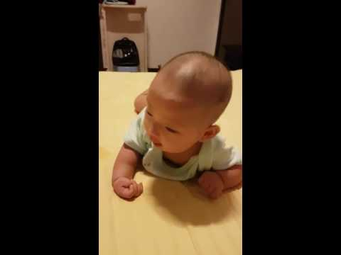 Cute baby' tummy time