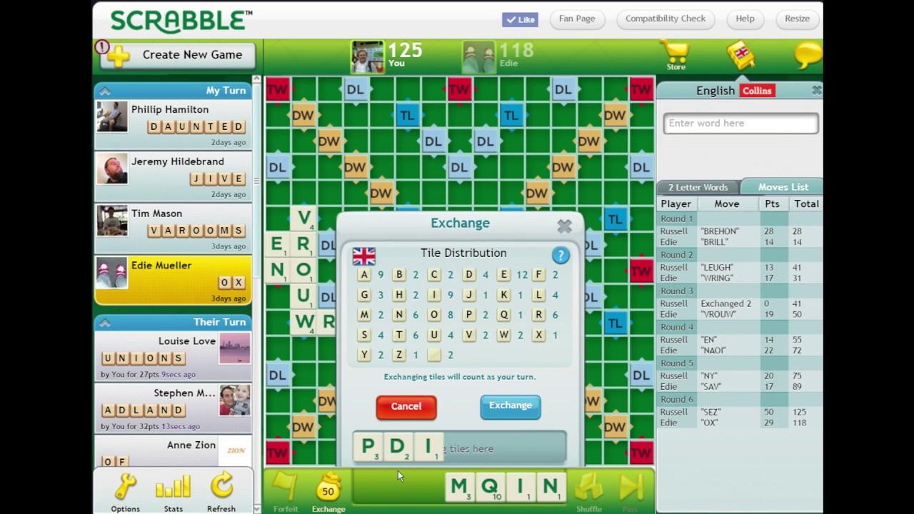 Online Spiel Scrabble