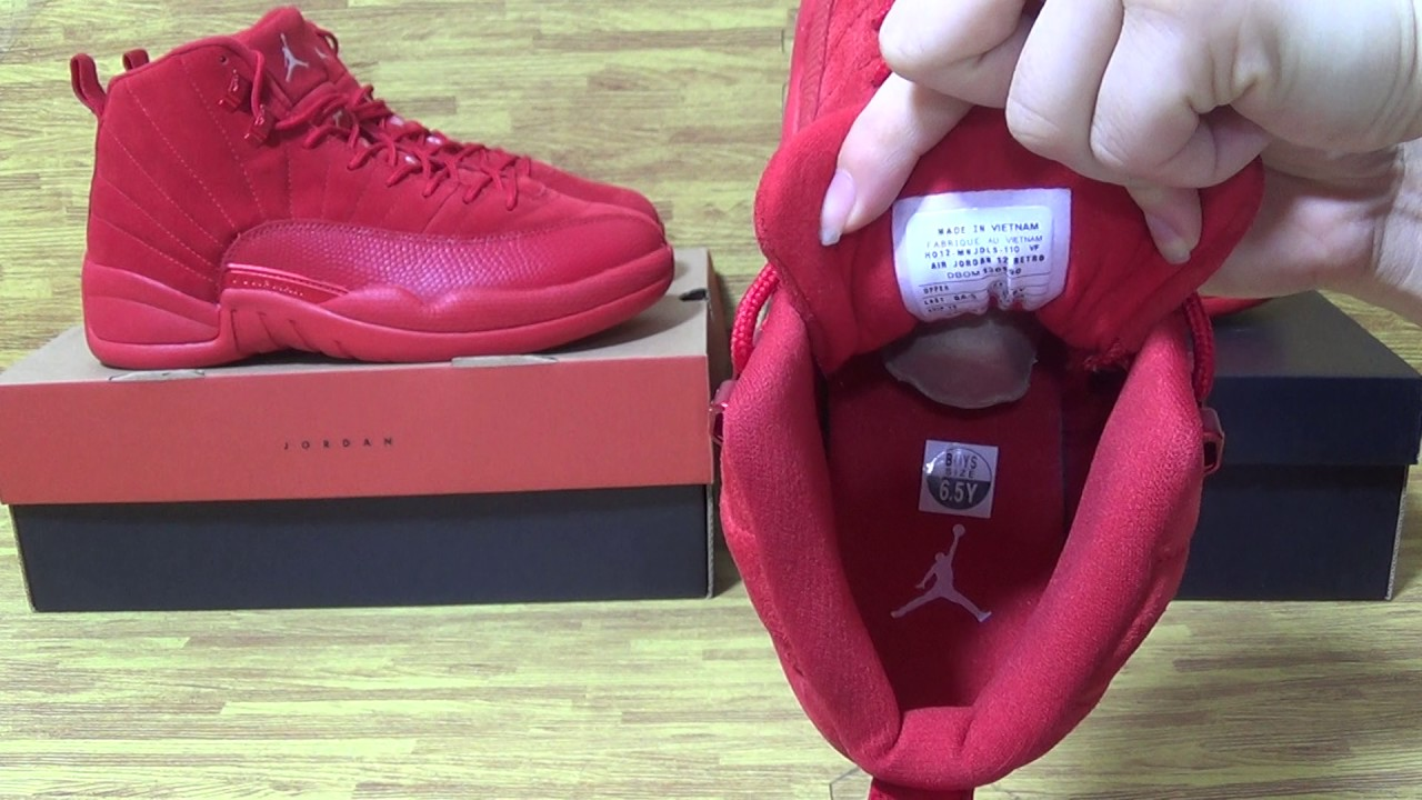 new products 8e3d1 78684 Authentic Air Jordan 12 Red Suede GS from jordansole